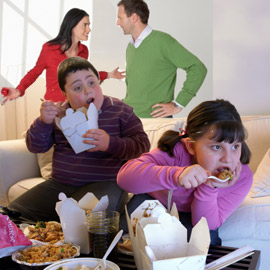 Childhood obesity linked to parental stress