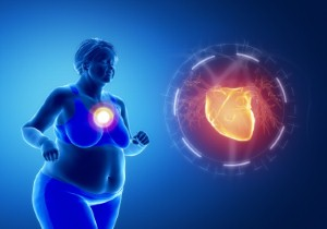 Gaining weight around the midsection can pose a potentially significant risk to black womens heart health, according to new research. Image: janulio via iStock