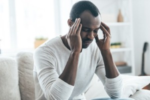 Work pressures are the main factor that UK men blame for their poor mental health, according to a new study. Image: g-stockstudio via iStock