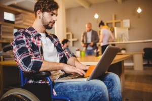How occupational therapists can work with employers and disabled job candidates to help bridge the UKs disabled employment gap. Image: Wavebreakmedia via iStock