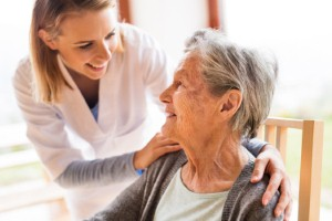 NHS England is set to fund 240 places for pharmacists to work in residential care homes to help improve the standard of care offered to residents. Image: Halfpoint via iStock