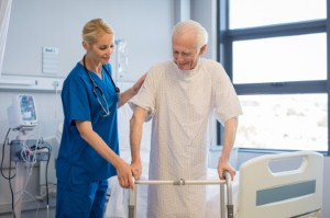 Occupational therapists could play an important part in helping to reduce the number of falls suffered by older people within the community. Image: Ridofranz via iStock